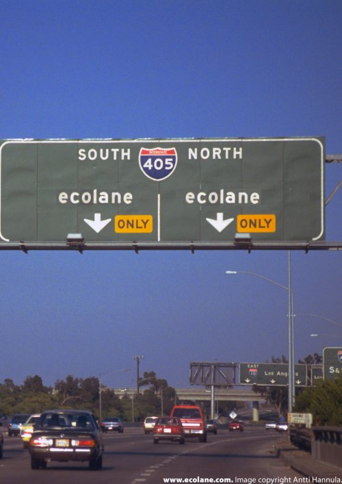 Ecolane Carpool Lanes - The Future?